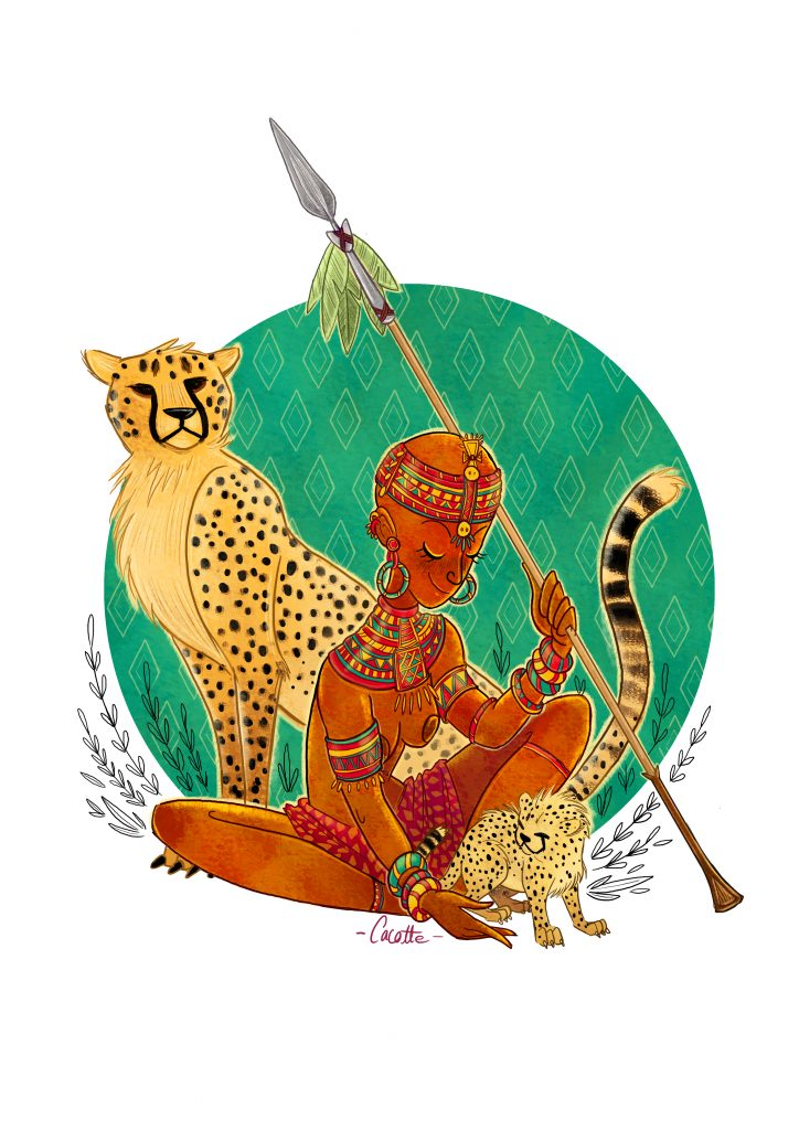 African Tribe illustration