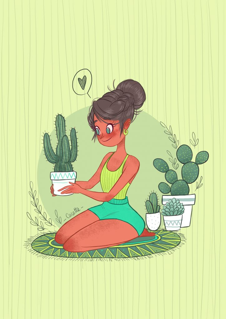 Plant lover, Home sweet Home illustration