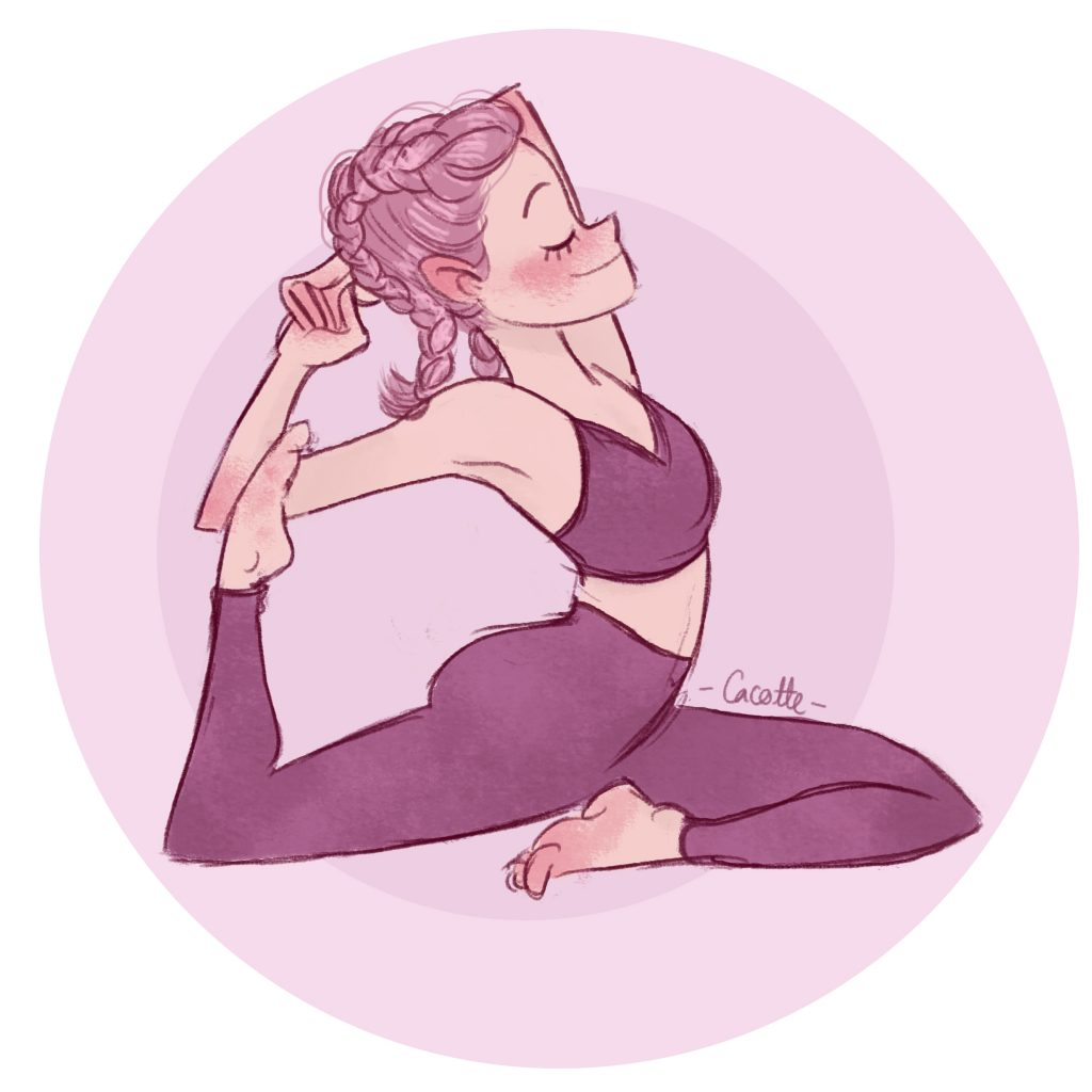 Yoga posture illustration, Mermaid girl illustration