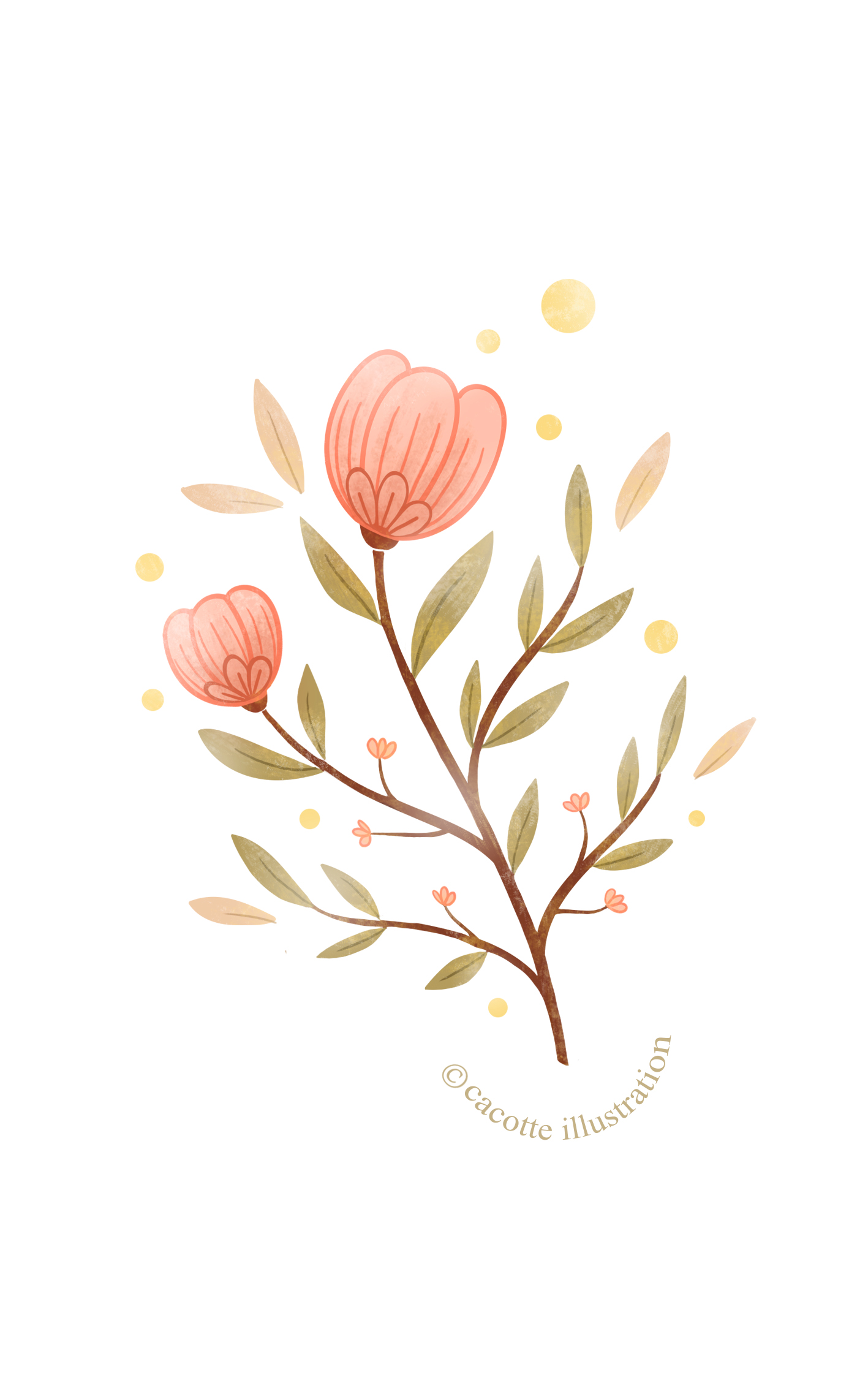 Valentine Flowers illustration
