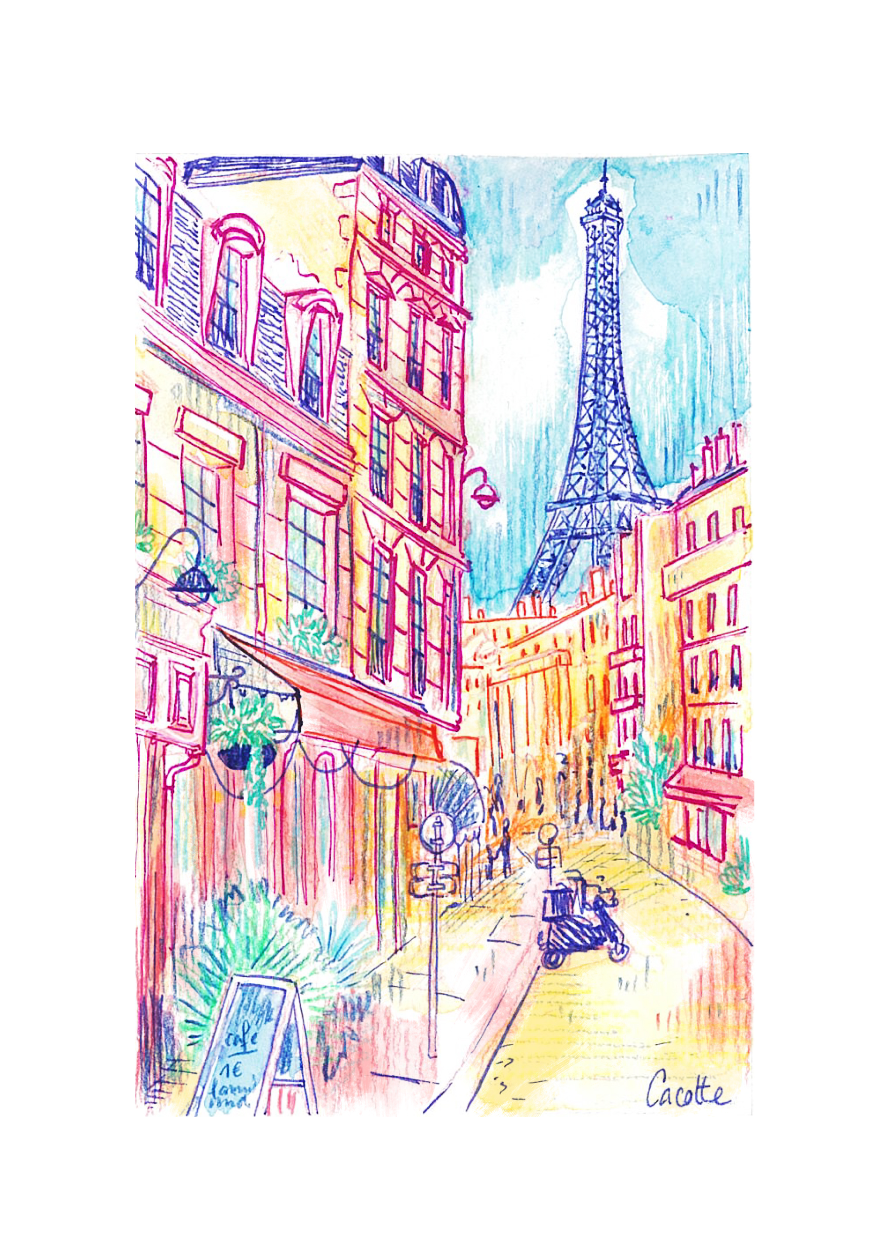 Paris Watercolor serie