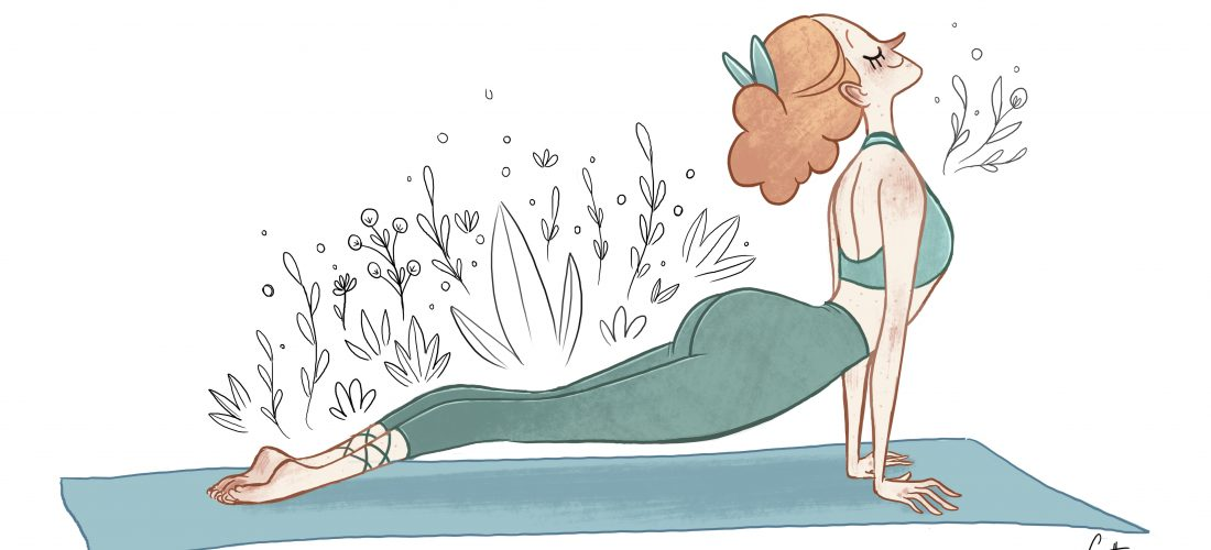 Yoga everyday illustration